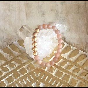 Natural Unpolished Moonstone Mala Bracelet